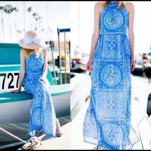 NWT Vineyard Vines Size 2 Sanddollar Maxi Dress